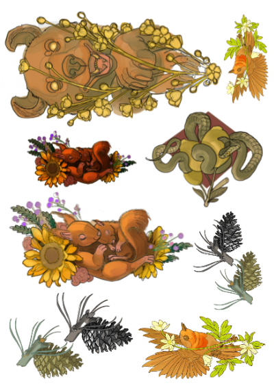 Nature temporary tattoo designs by Wiman sTattoo