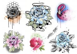 Gnuggisar med motiv av Blommor